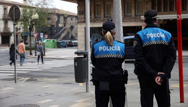 Dos policías municipales de Tudela