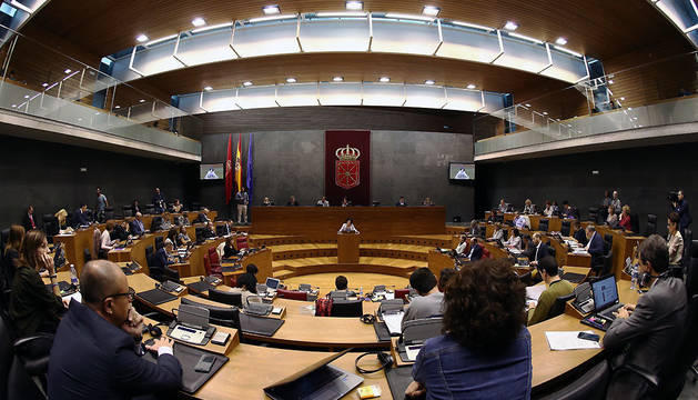 Debate de la Ley de Policías en el Parlamento de Navarra.