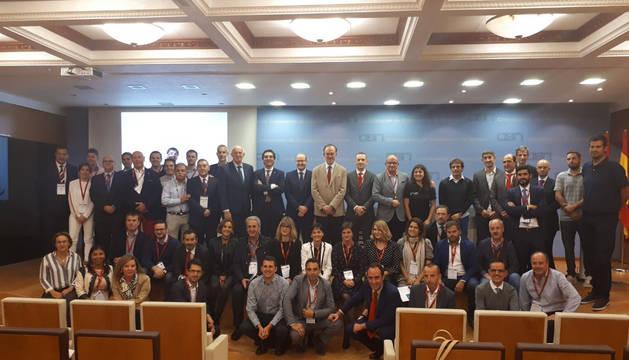 Participantes de las jornadas de liderazgo en la empresa y el deporte.