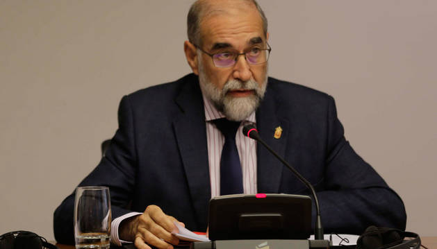 El consejero de Salud, Fernando Domínguez, durante la comisión parlamentaria de este viernes.