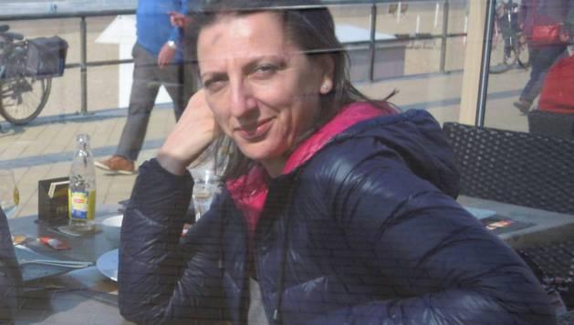 Ana García Figueroa, en una excursión a la costa belga.