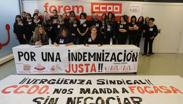 La plantilla de Forem exige a CC OO que asuma las indemnizaciones