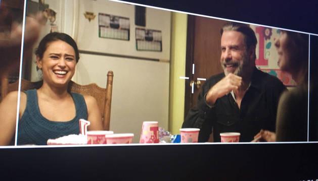Imagen de John Travolta en una escena de Trading Paint, película cuya conversión en 3D y postproducción se supervisará en Pamplona.