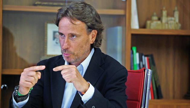 Imagen de Víctor Küppers, que participó recientemente en una jornada en la Universidad de Navarra.
