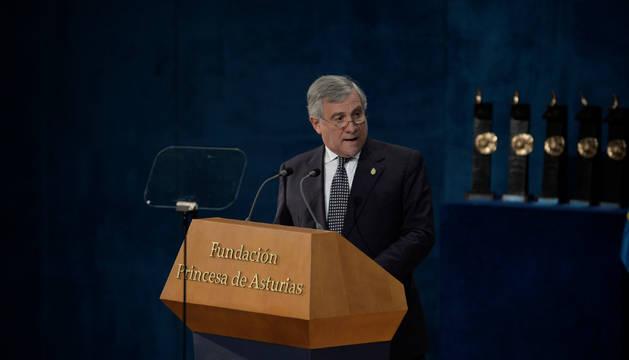 Tajani, presidente del Parlamento Europeo, en Oviedo