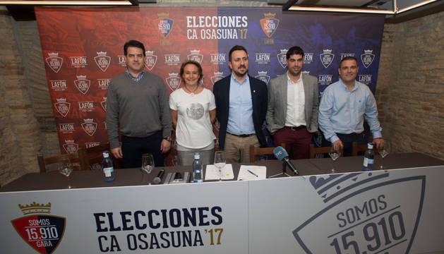 Foto de grupo de la candidatura encabezada por Juanra Lafón