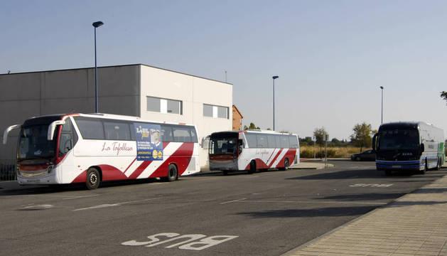 Avanzan las obras del nuevo intercambiador de autobuses de Tafalla