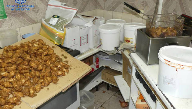 Imagen del restaurante 'Doner kebab' donde trabajaban los detenidos.