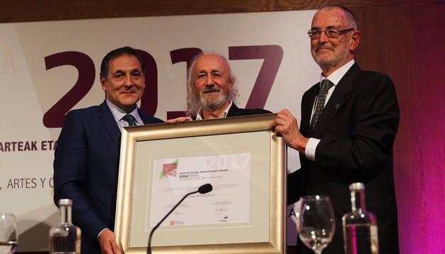 Montxo Armendáriz, en la entrega del premio en el Condestable.