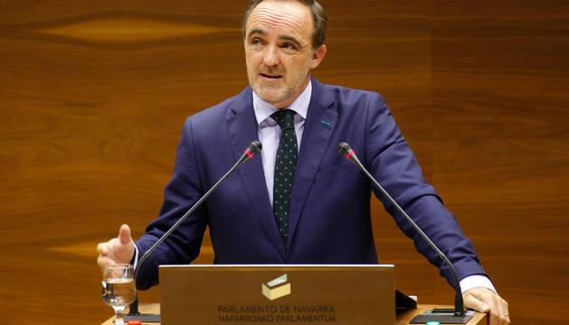 Esparza, en el Parlamento de Navarra.