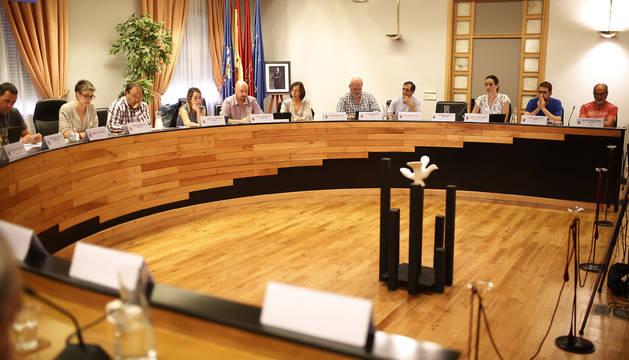 El pleno de Barañáin en la sesión que tuvo lugar en septiembre.