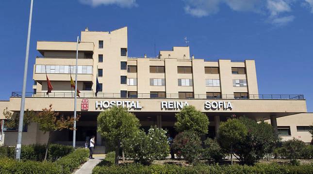 Fachada del Hospital Reina Sofía de Tudela.