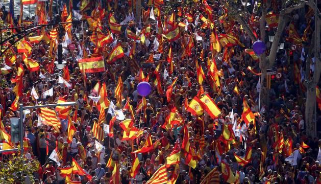 Manifestación convocada por Sociedad Civil Catalana