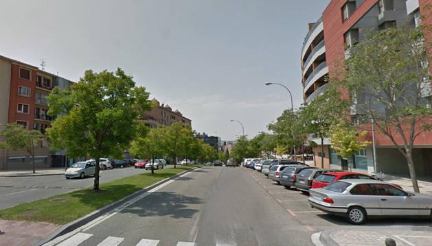 Imagen de la calle Monte Monjardín de Pamplona.