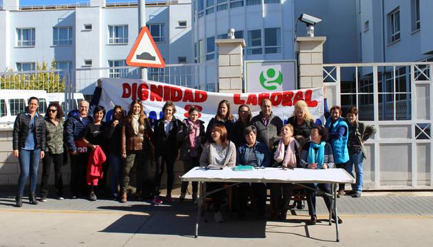 """Empleados de la residencia de San Adrián reivindican un """"convenio justo"""""""