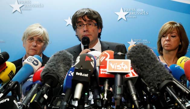 Puigdemont, en la rueda de prensa de Bruselas
