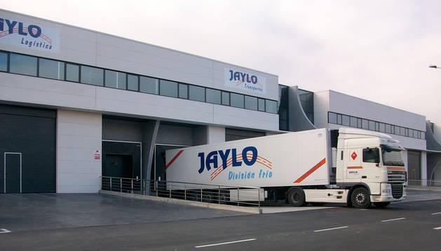 foto de Camión de la empresa Jaylo en la Ciudad Agroalimentaria de Tudela