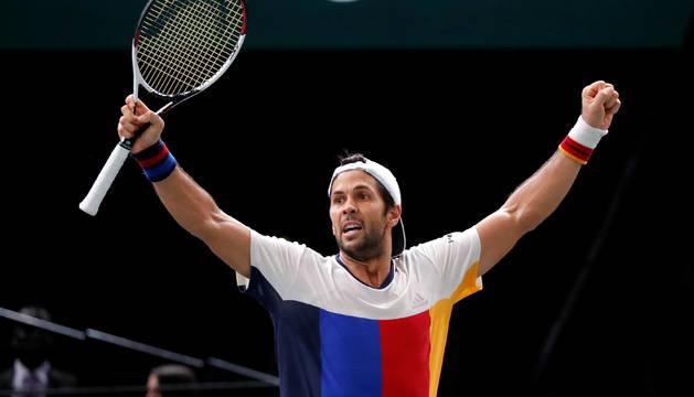 Fernando Verdasco tras clasificarse para los cuartos del Masters de París