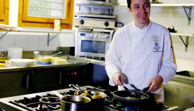 El cocinero David Yarnoz.