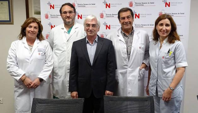 De izquierda a derecha, Montse Torres, Pablo Díaz de Rada, Oscar Moracho, José Ramón Mora y María Teresa Fauste.