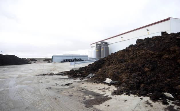Imagen de la planta Ecofert Sansoain, ubicada en Artajona.