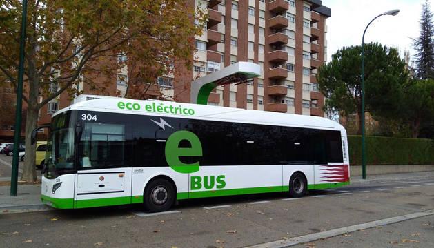 Imagen del autobús eléctrico, que funcionará en Valladolid.