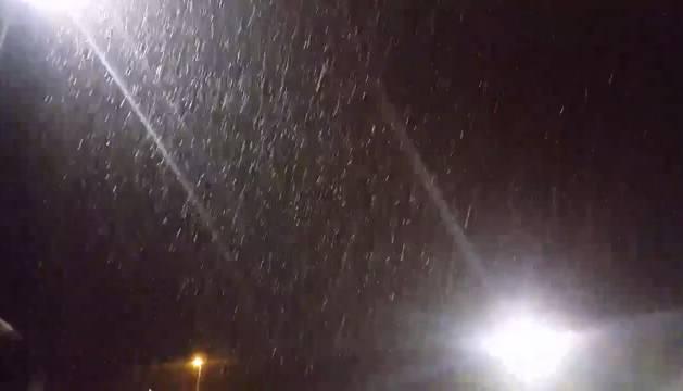 Copos de nieve en Sarriguren