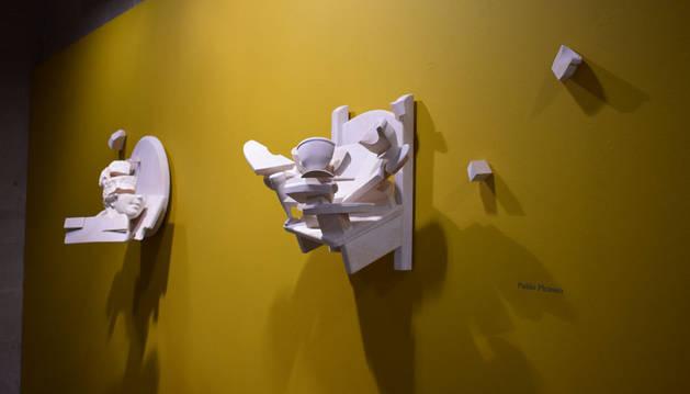 Un detalle de la exposición de Héctor Urra en el museo Gustavo de Maeztu de Estella.