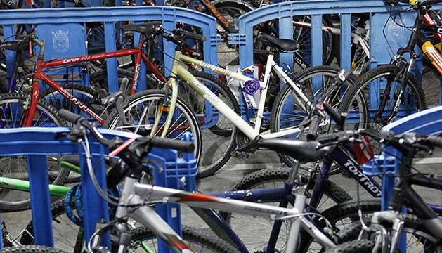 Bicicletas depositadas en Policía Municipal.