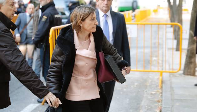 La expresidenta del Parlament, Carma Forcadell