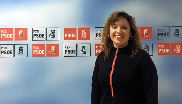 Silvia Cepas, secretaria general del PSN Tudela