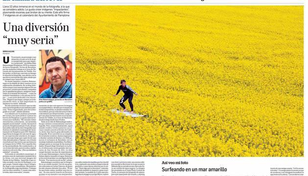 Páginas de Diario de Navarra premiadas en los ÑH