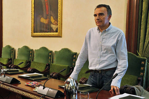 Imagen de Manuel Millera el día de su posesión en el último pleno.