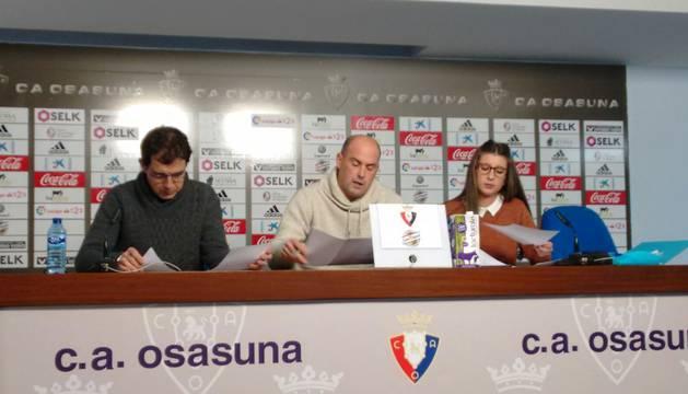foto de Imagen de la rueda de prensa de la junta electoral de Osasuna.