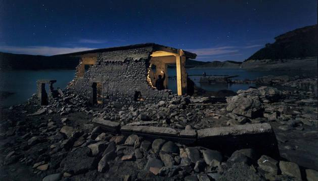 Fotografía de las ruinas de Tiermas, ganadora del concurso de fotografía nocturna