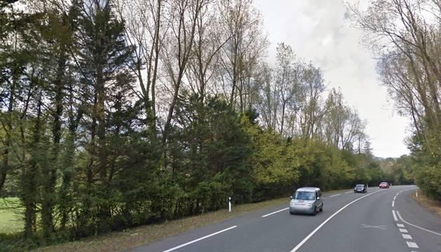 La carretera cercana al lugar de la aparición
