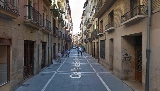 Calle San Antón en Pamplona