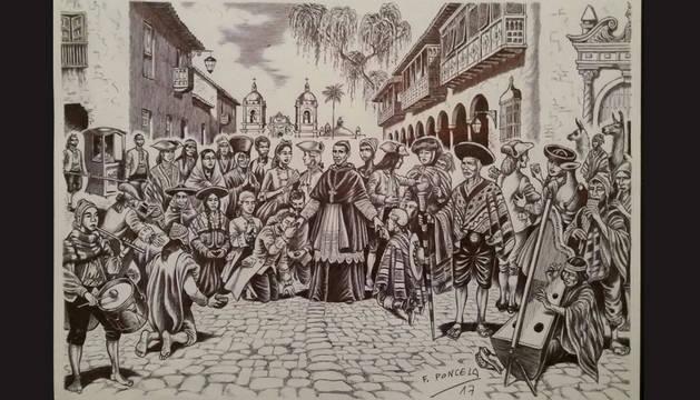 Un dibujo de la exposición que acoge el Condestable