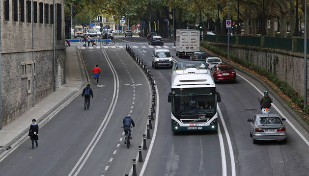 Imagen de la avenida de Guipúzcoa, en Pamplona.