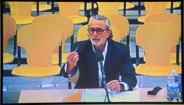 Un momento de la declaración de Francisco Correa este viernes en la sede de la Audiencia Nacional de San Fernando de Henares.