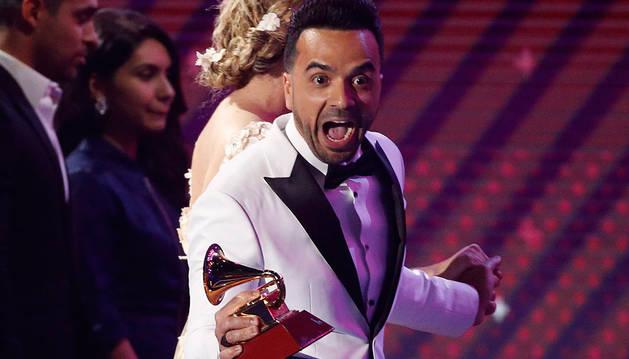 Luis Fonsi, en la gala de los Grammy celebrada este jueves.