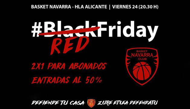Promoción del Red Friday del Basket Navarra.