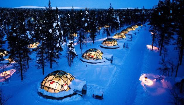 Hotel iglús en Finlandia
