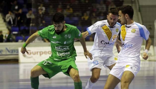 El ala catalán Eric Martel, en el último partido ante el Catgas Energía, está previsto que salga en el cinco inicial.