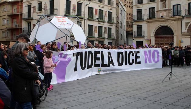 Varias localidades de la Ribera navarra se sumaron al 25N-Día Internacional por la Eliminación de la Violencia contra las Mujeres