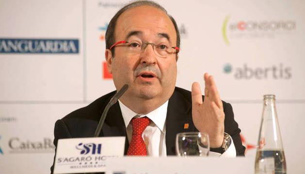 El líder del PSC, Miguel Iceta.