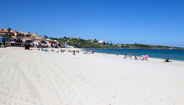 Imagen de la playa de Getare, en Algeciras.