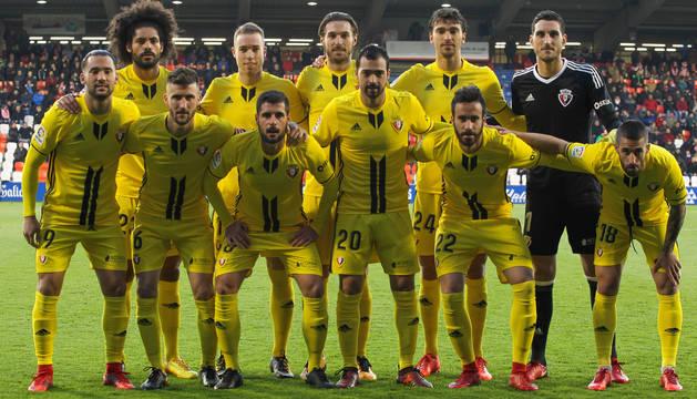 El último once titular de Osasuna en Lugo