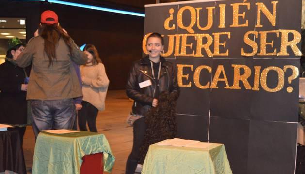 Una acción en Pamplona de la campaña 'Black Fraude'