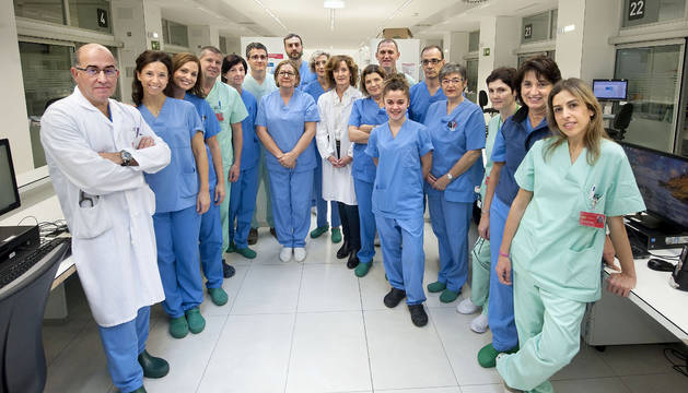 Equipo de CHN que realizó la extracción del pulmón en asistolia.
